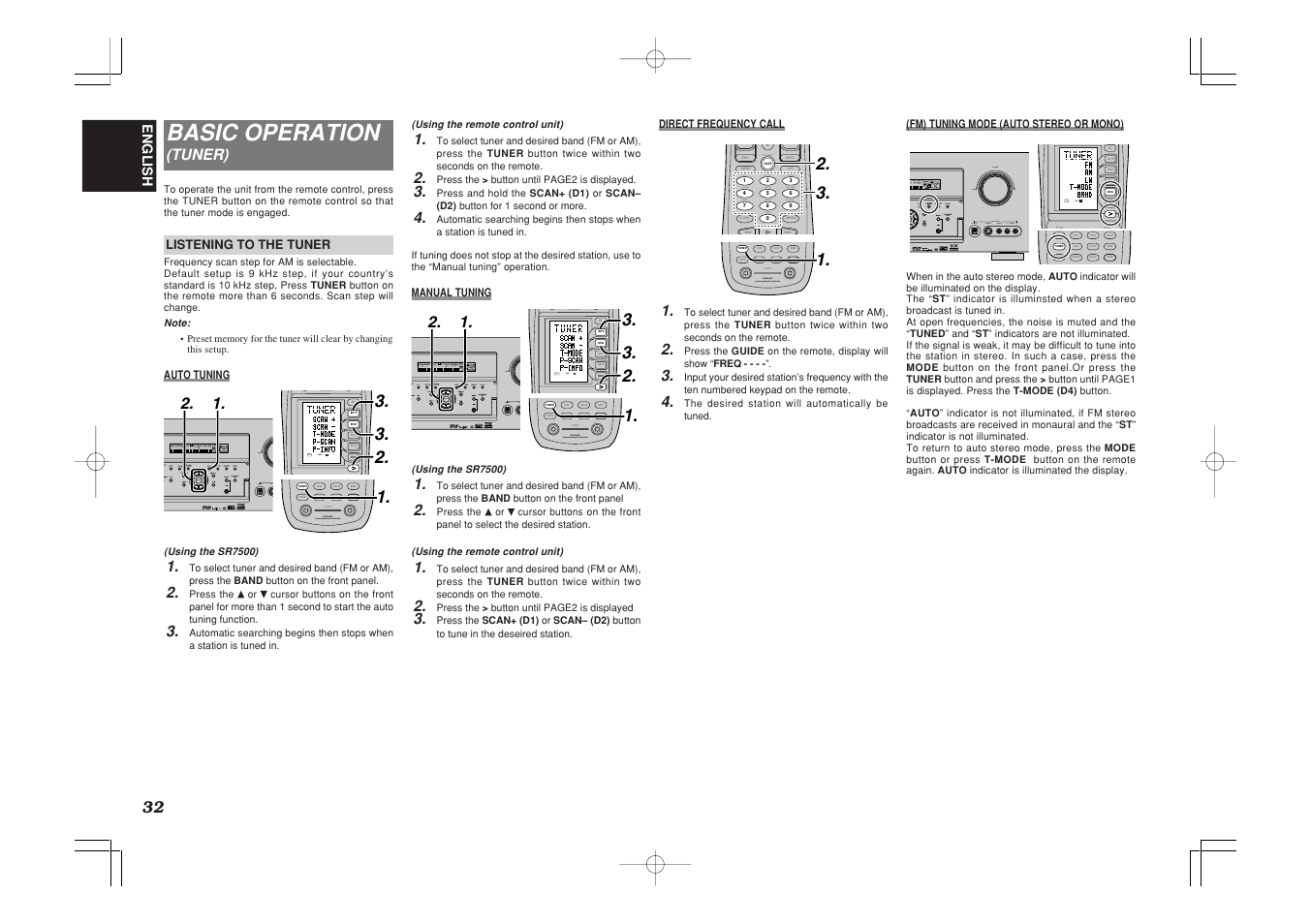 basic operation marantz sr7500 user manual page 36 58 rh manualsdir com Marantz SR4200 Receiver A V Marantz SR7500 Problem