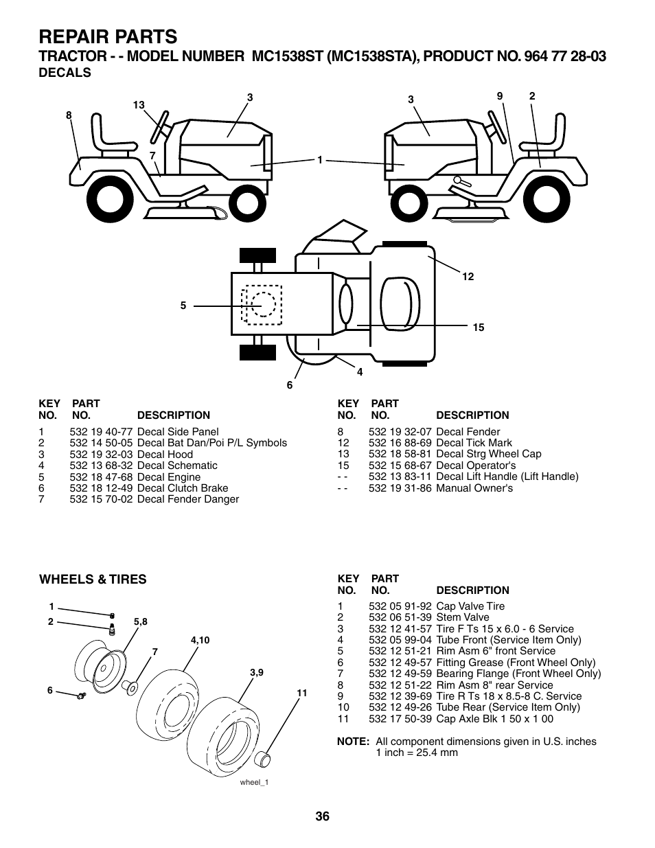 Series 7 Wheel Tires Group Diagram And Parts List Partstreecom