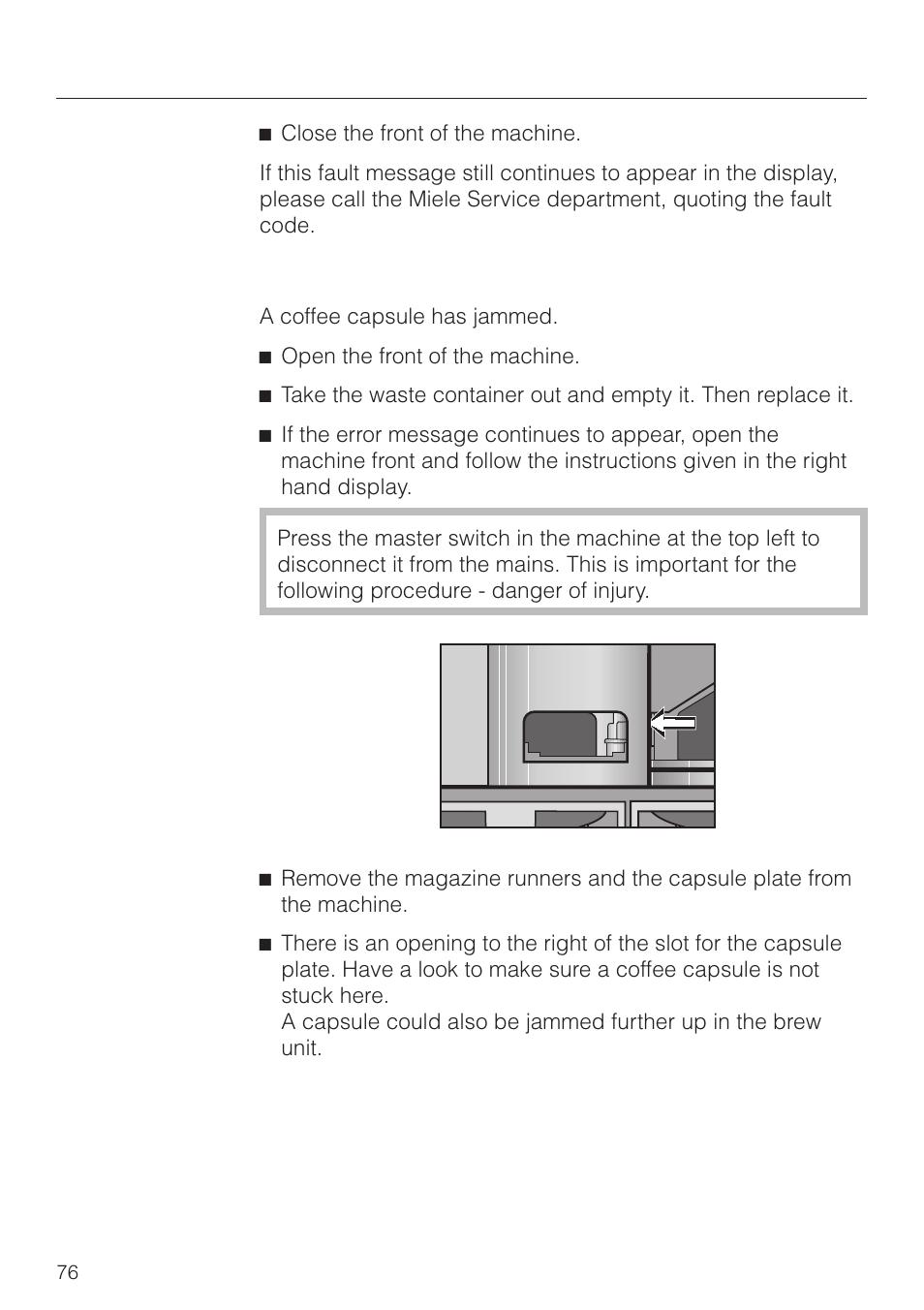 problem solving guide miele cva 2660 user manual page 76 88 rh manualsdir com miele cva 615 service manual miele service manual download g800 pdf zip