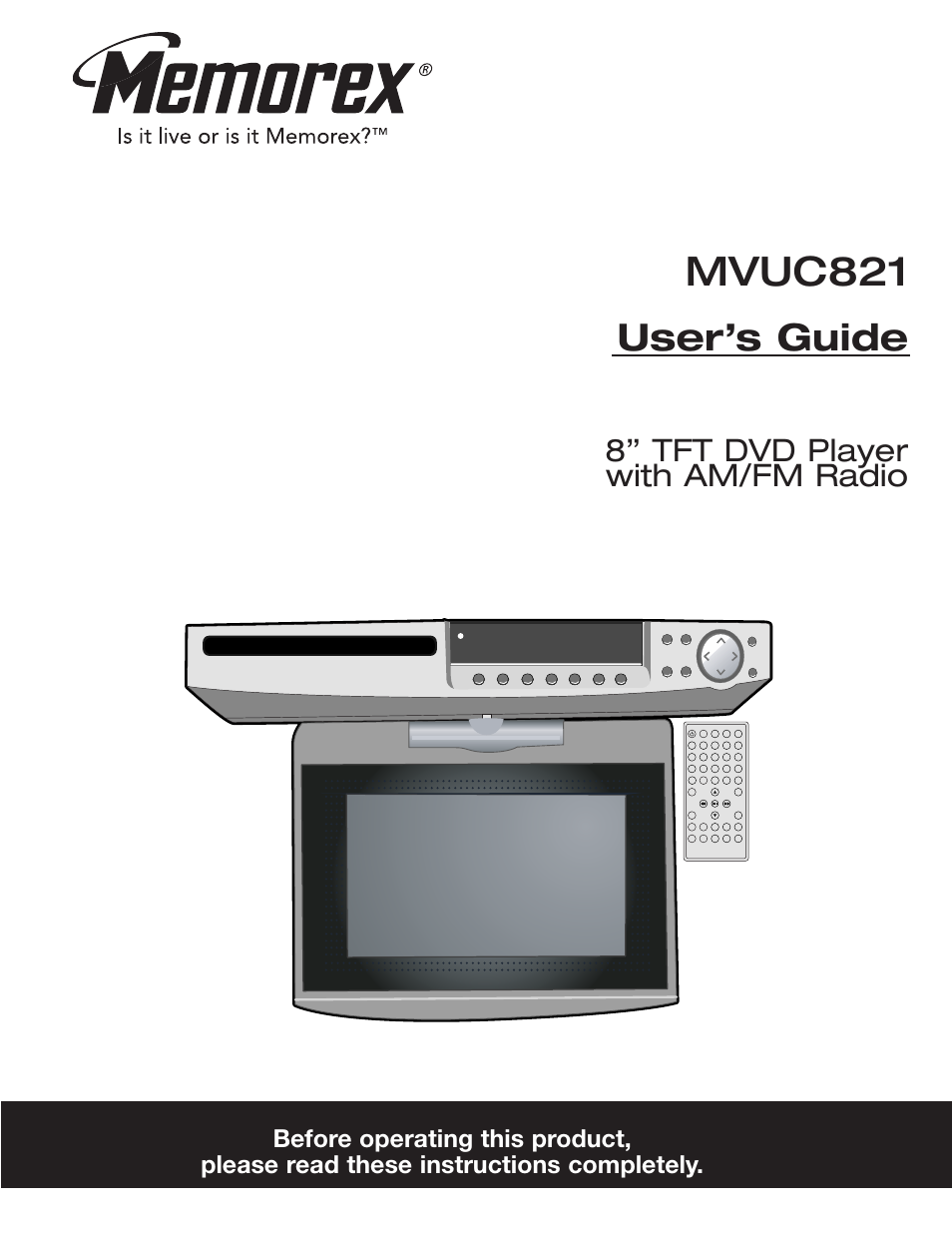 Memorex Mvuc821 User Manual 59 Pages