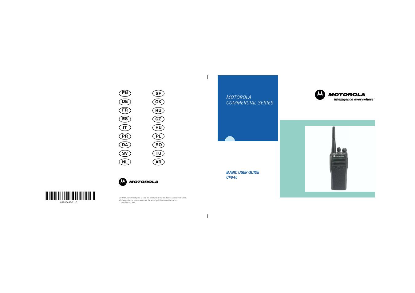motorola cp040 user manual 292 pages rh manualsdir com UHF Motorola CP040 Motorola Walkie Talkie
