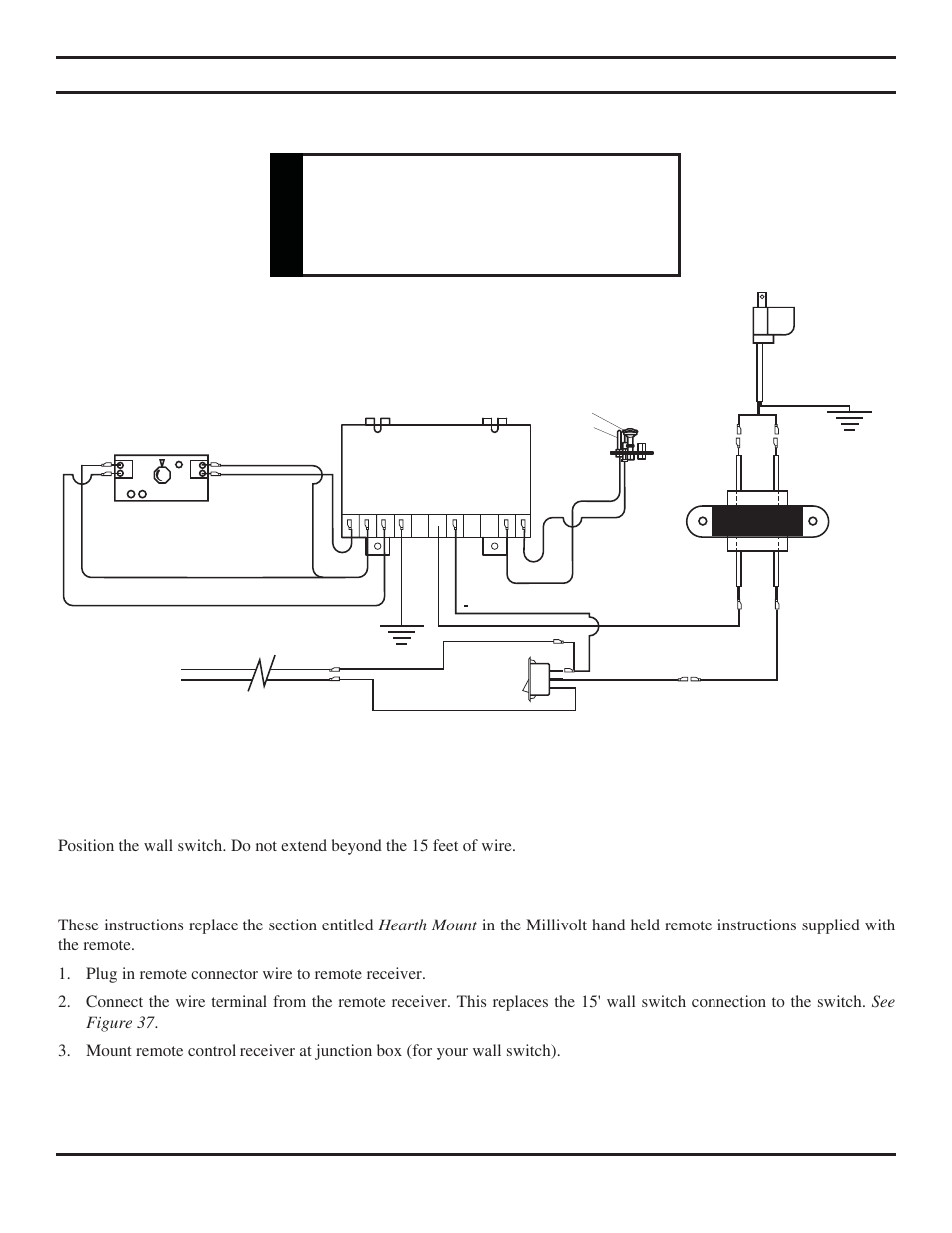 Electrical Installation Warning Remote Wall Switch Monessen Gas Firep Wiring Diagram Hearth Direct Vent Fireplace Bdv500 User Manual Page 30 52