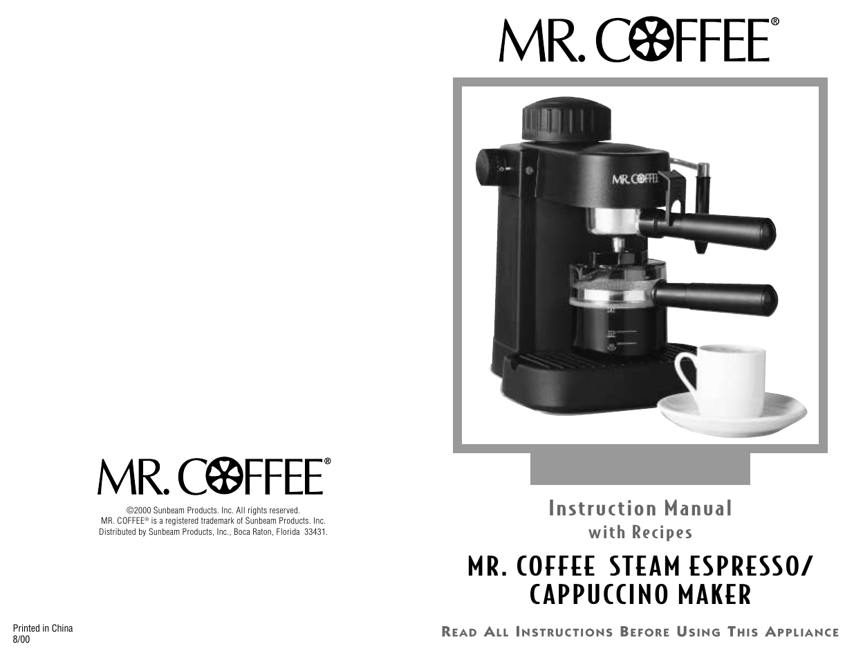 Mr Coffee Ecm10 User Manual 16 Pages