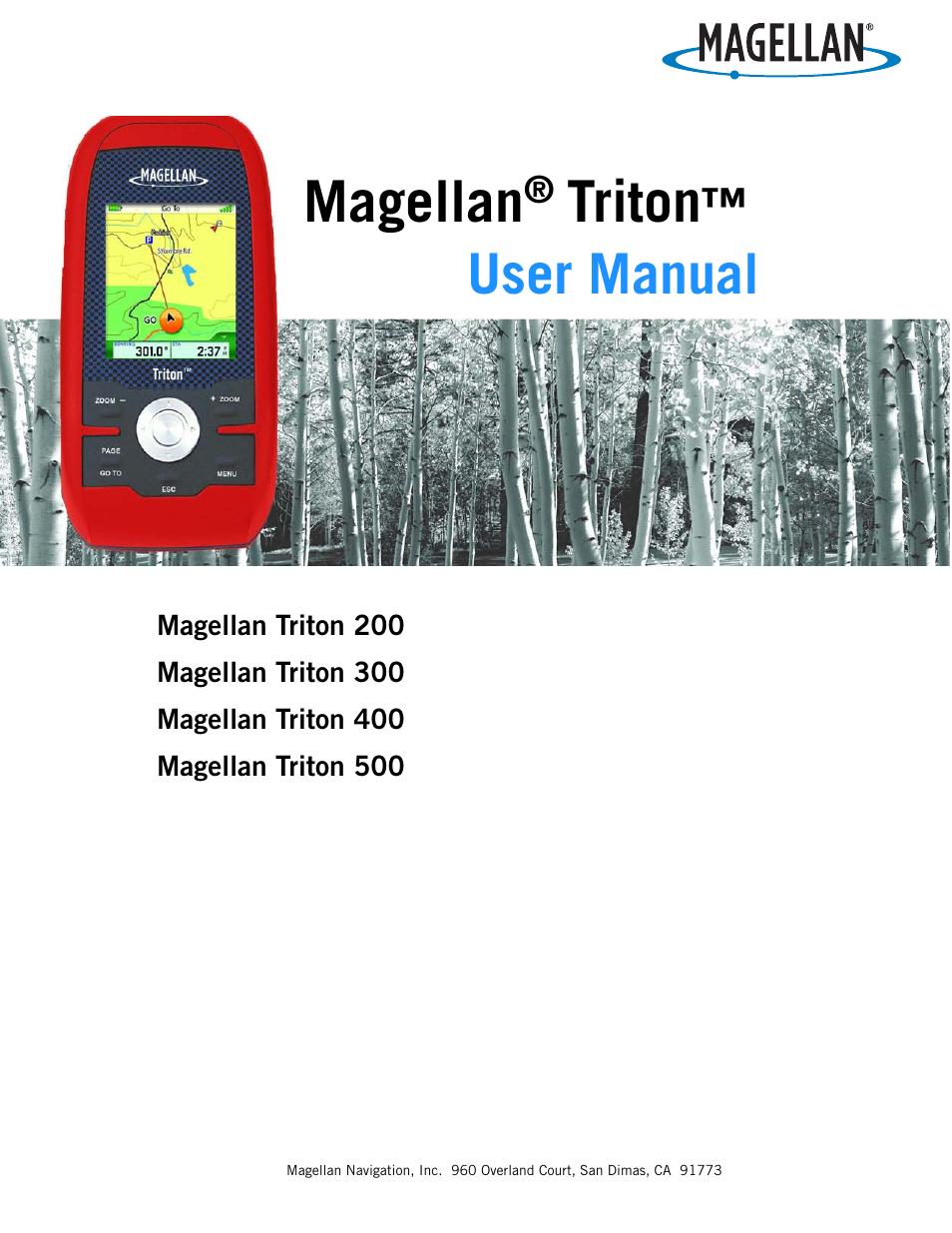 magellan triton 300 user manual 30 pages also for triton 400 rh manualsdir com Magellan Triton 300 GPS Magellan Triton 500 GPS