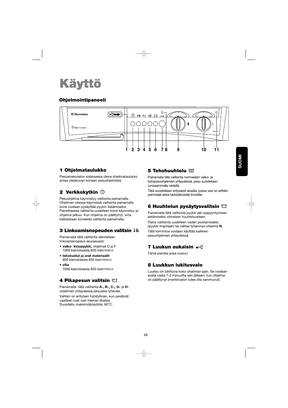 1-7 kg 6 Motion Direct Drive -pyykinpesukone, energialuokka A+++