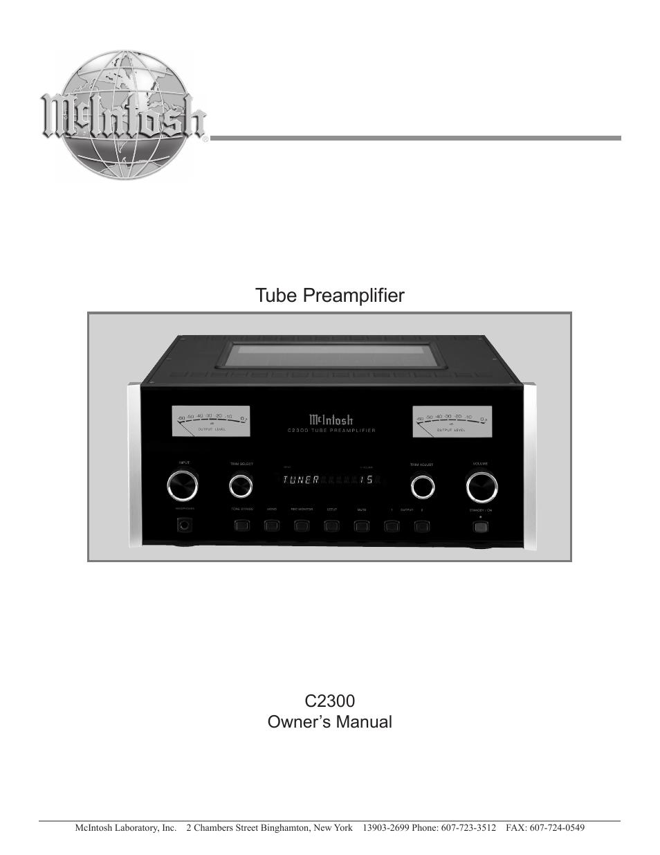mcintosh c2300 user manual 24 pages rh manualsdir com mcintosh c500 owner's manual mcintosh ma6900 owners manual