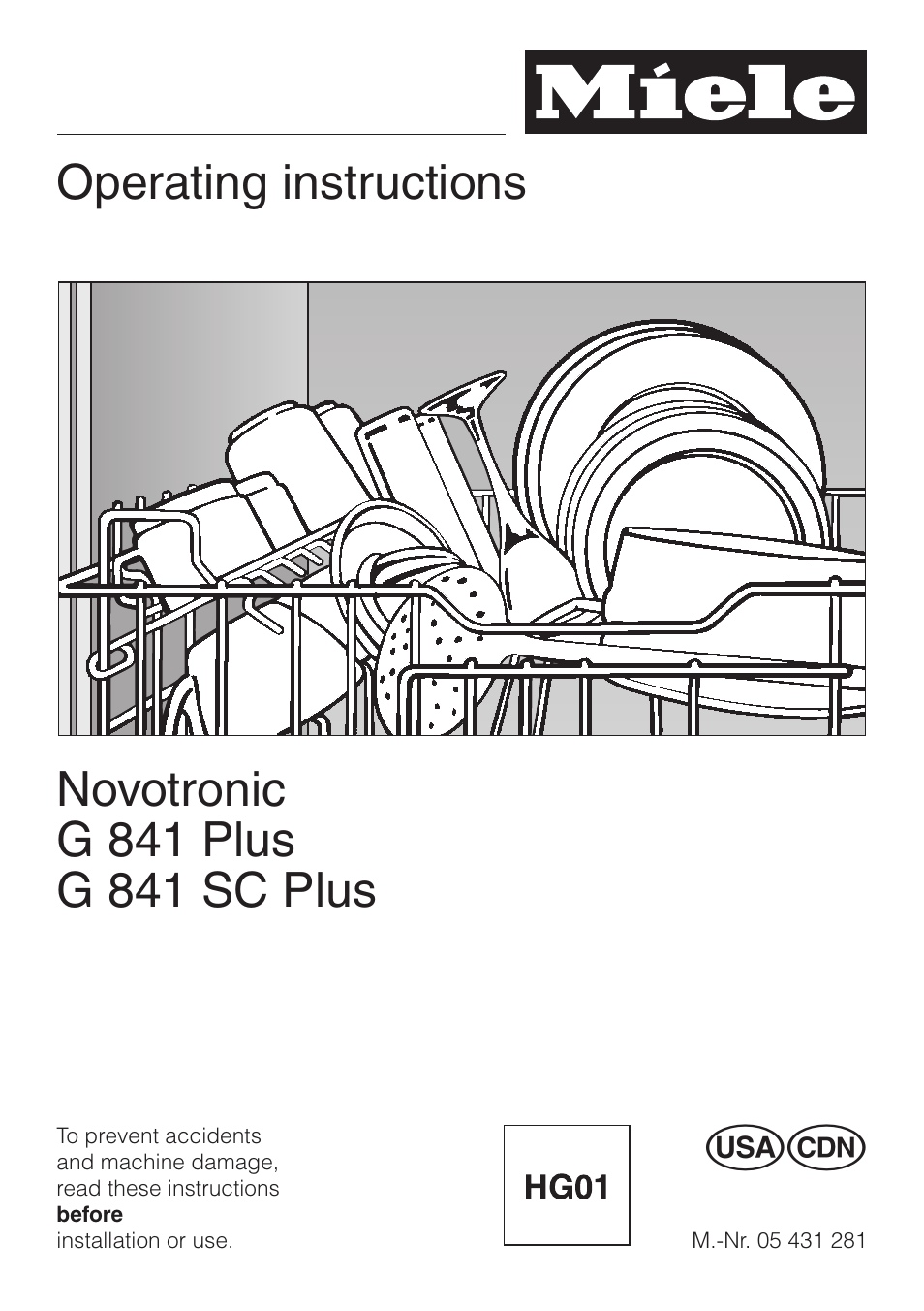 Miele Novotronic G 841 Sc Plus User Manual 48 Pages