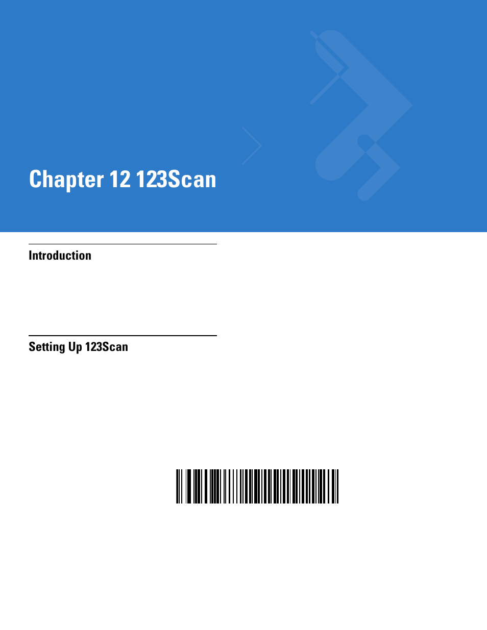123scan, Introduction, Setting up 123scan | Motorola DS3478