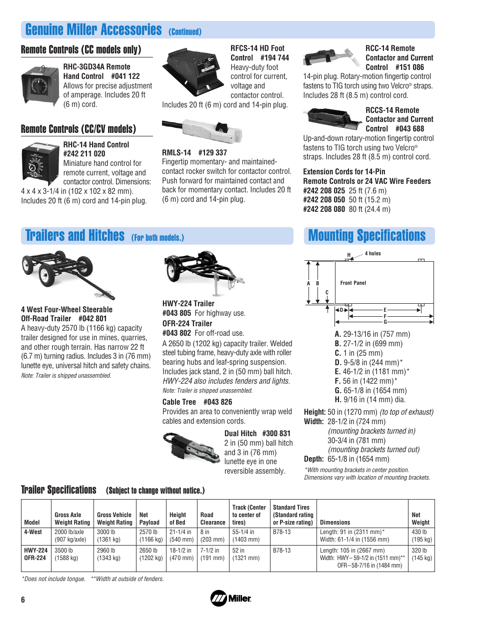 Trailers And Hitches >> Genuine Miller Accessories Trailers And Hitches Mounting