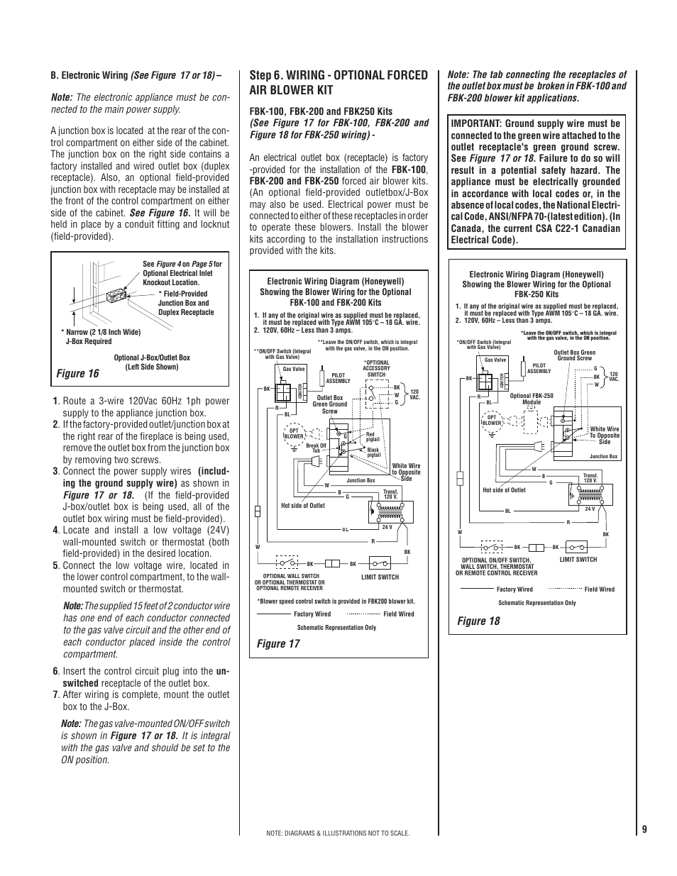 Maxon Gas Valve Wiring Diagram Schematic Diagrams Step 6 Optional Forced Air Blower Kit Telecom
