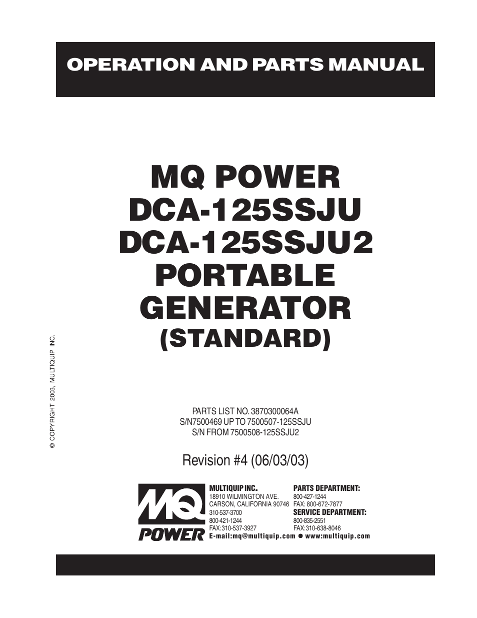 multiquip mq power portable generator standard dca 125ssju page1 mq power parts dca 25ssiu2 mq power generator dca 25ssiu2 mq power  at readyjetset.co