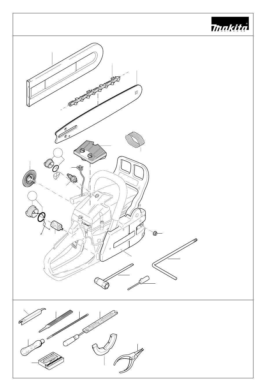 Extract from the spare parts list | Makita DCS 6800I User