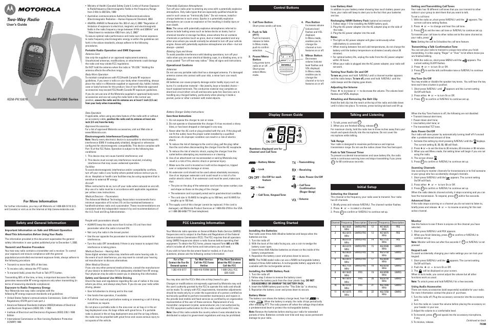 motorola fv200 user manual 2 pages rh manualsdir com Motorola DVR Manual Motorola MC55A Manual