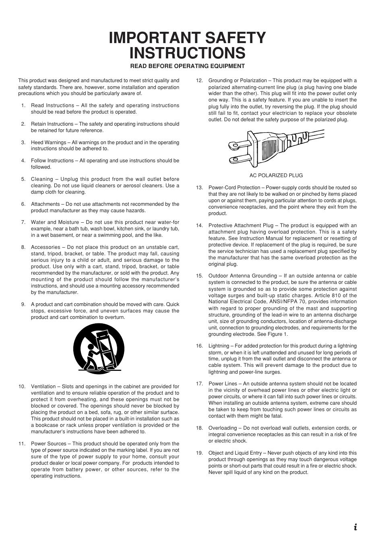 important safety instructions marantz sr8200 user manual page 3 rh manualsdir com Owner's Manual Instruction Manual Example