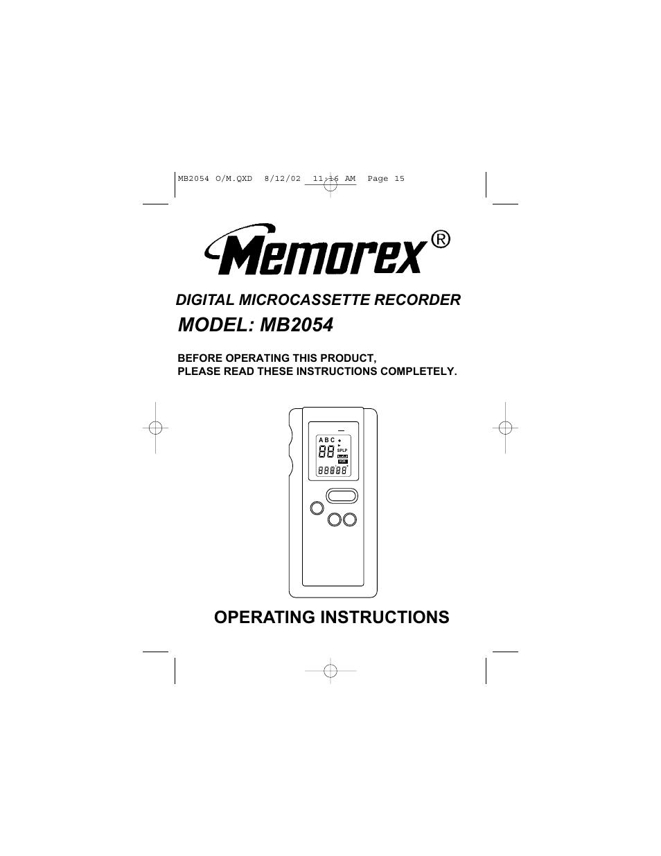 memorex mb2054 user manual 15 pages rh manualsdir com
