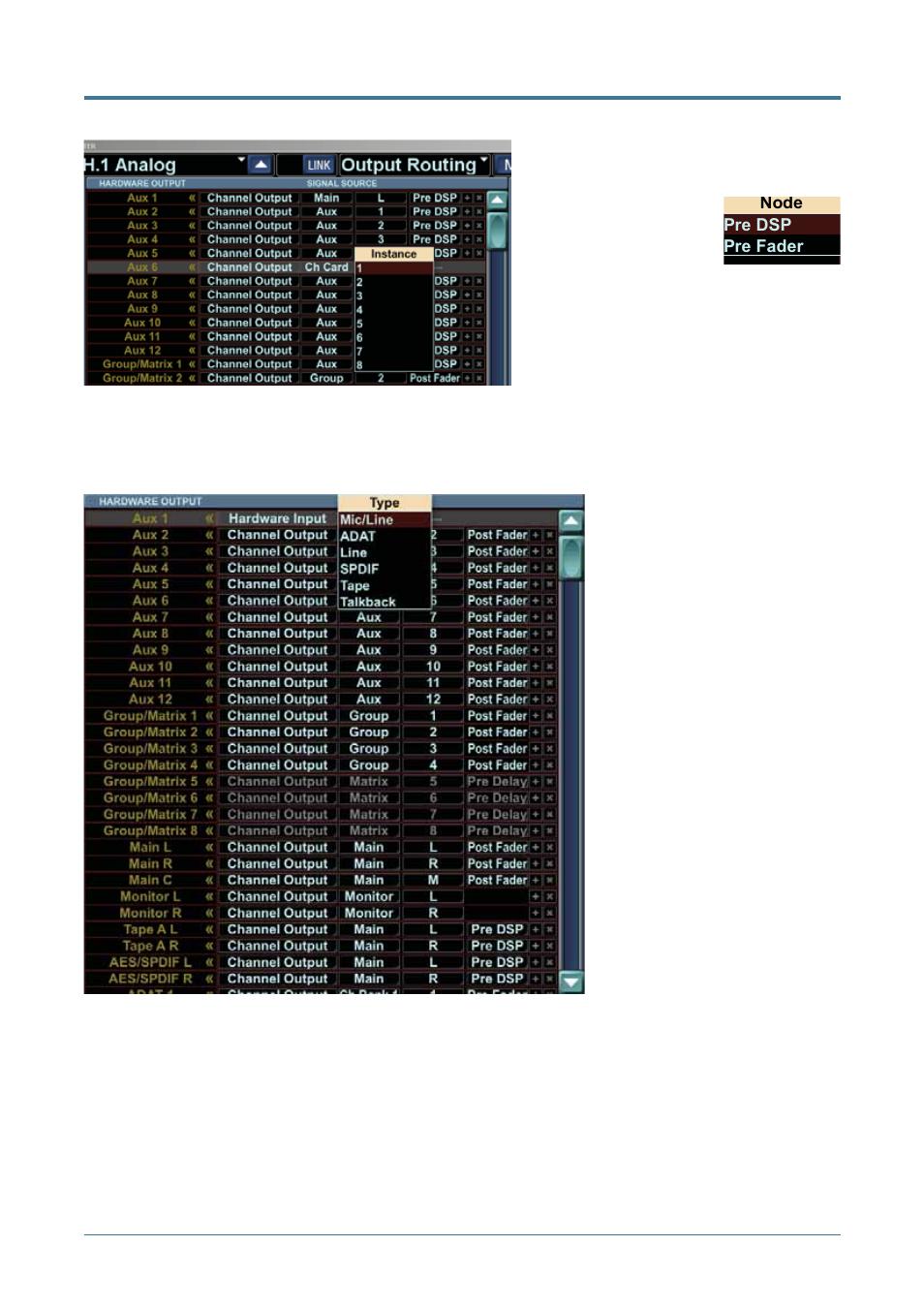 Hardware input   MACKIE TT24 User Manual   Page 21 / 54