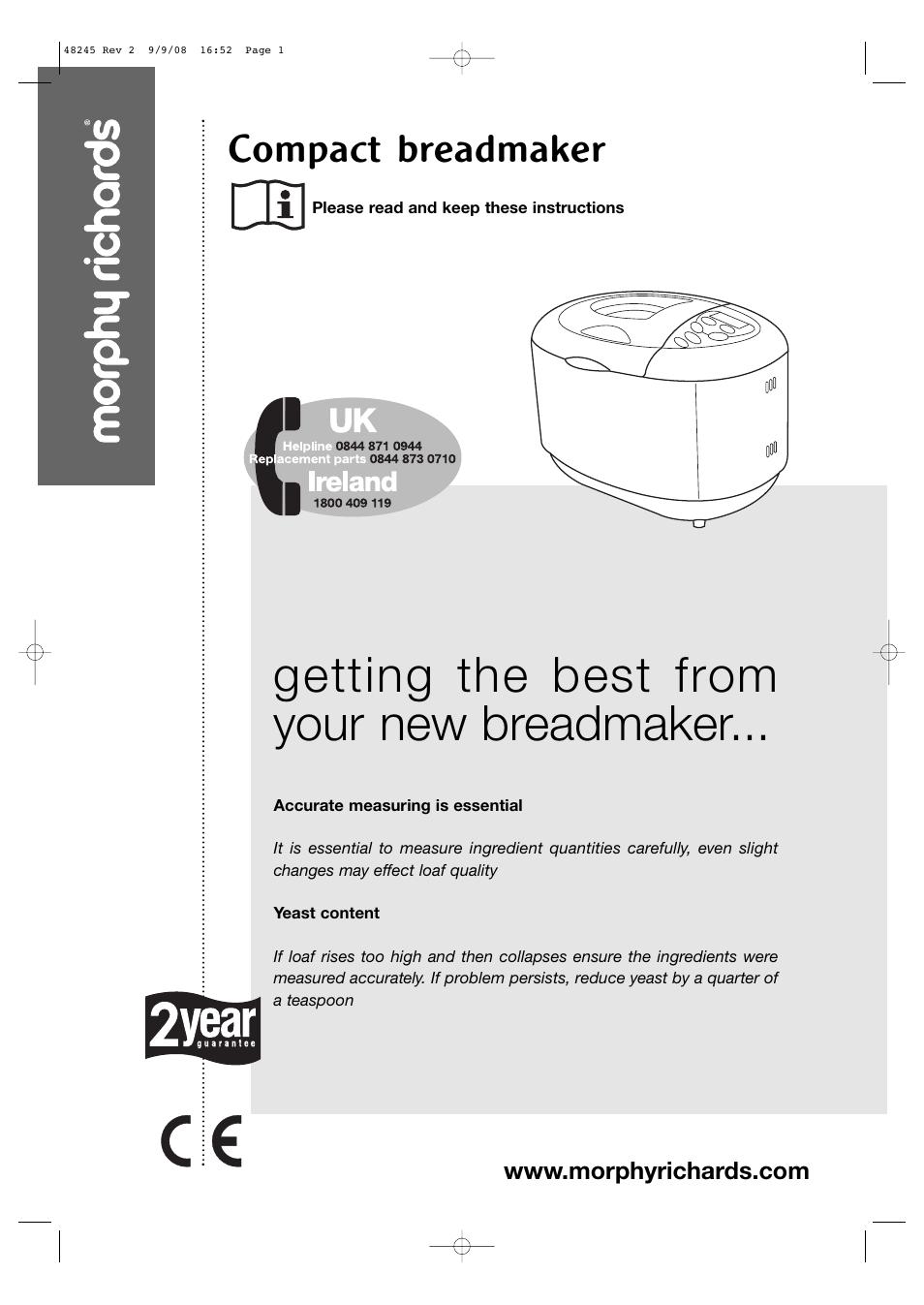 morphy richards 48245 user manual 26 pages rh manualsdir com morphy richards breadmaker model 48245 manual Morphy Richards Logo