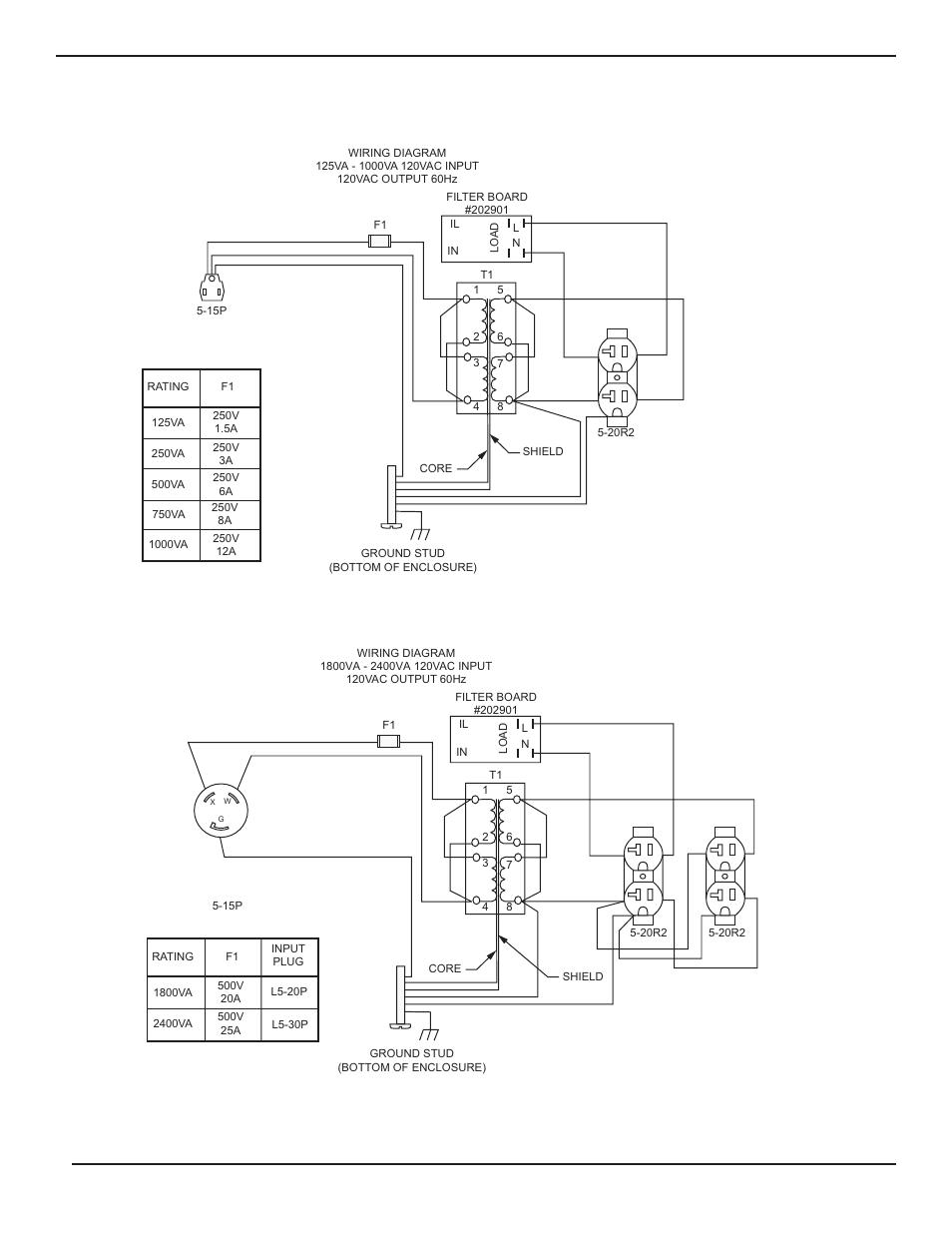 1  Wiring Diagram For 125va