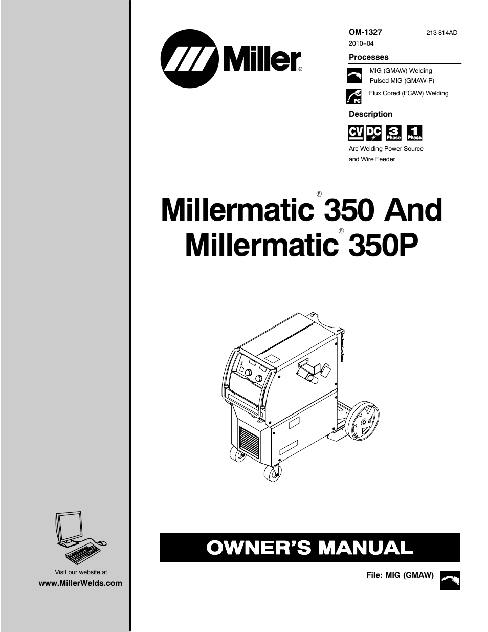 miller electric millermatic 350p user manual
