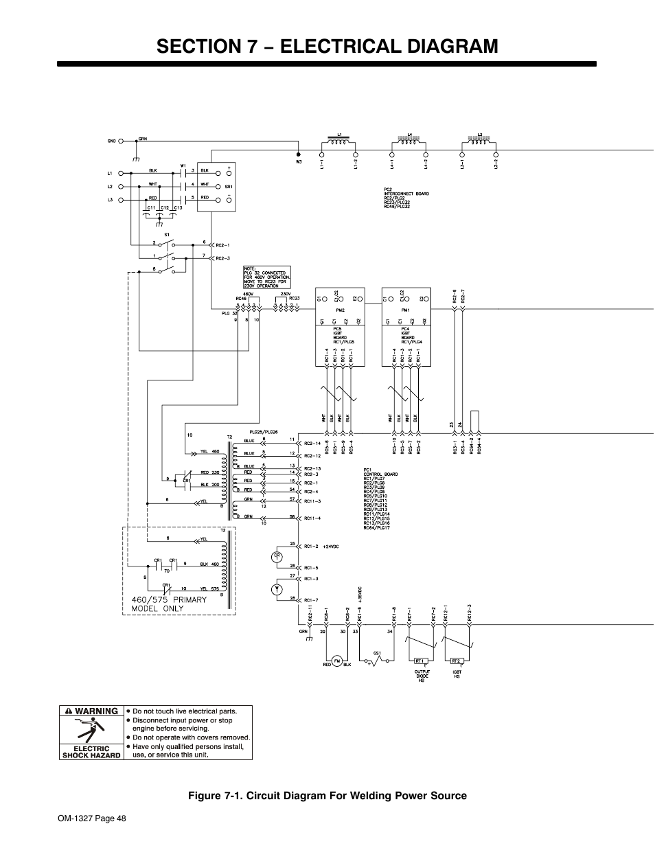 Section 7  U2212 Electrical Diagram
