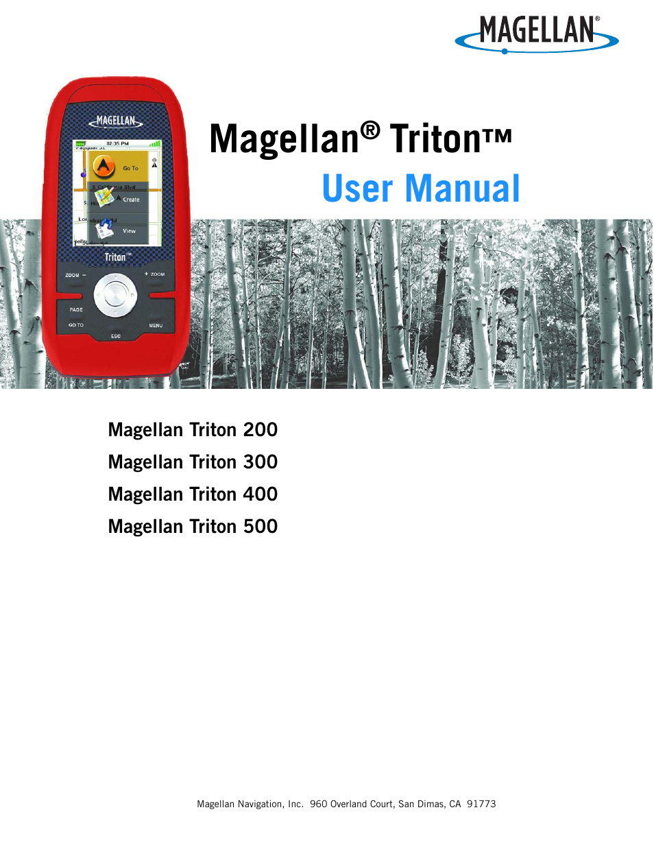 Magellan Explorist 400 User Manual 31 Pages Also For 300 Triton 200