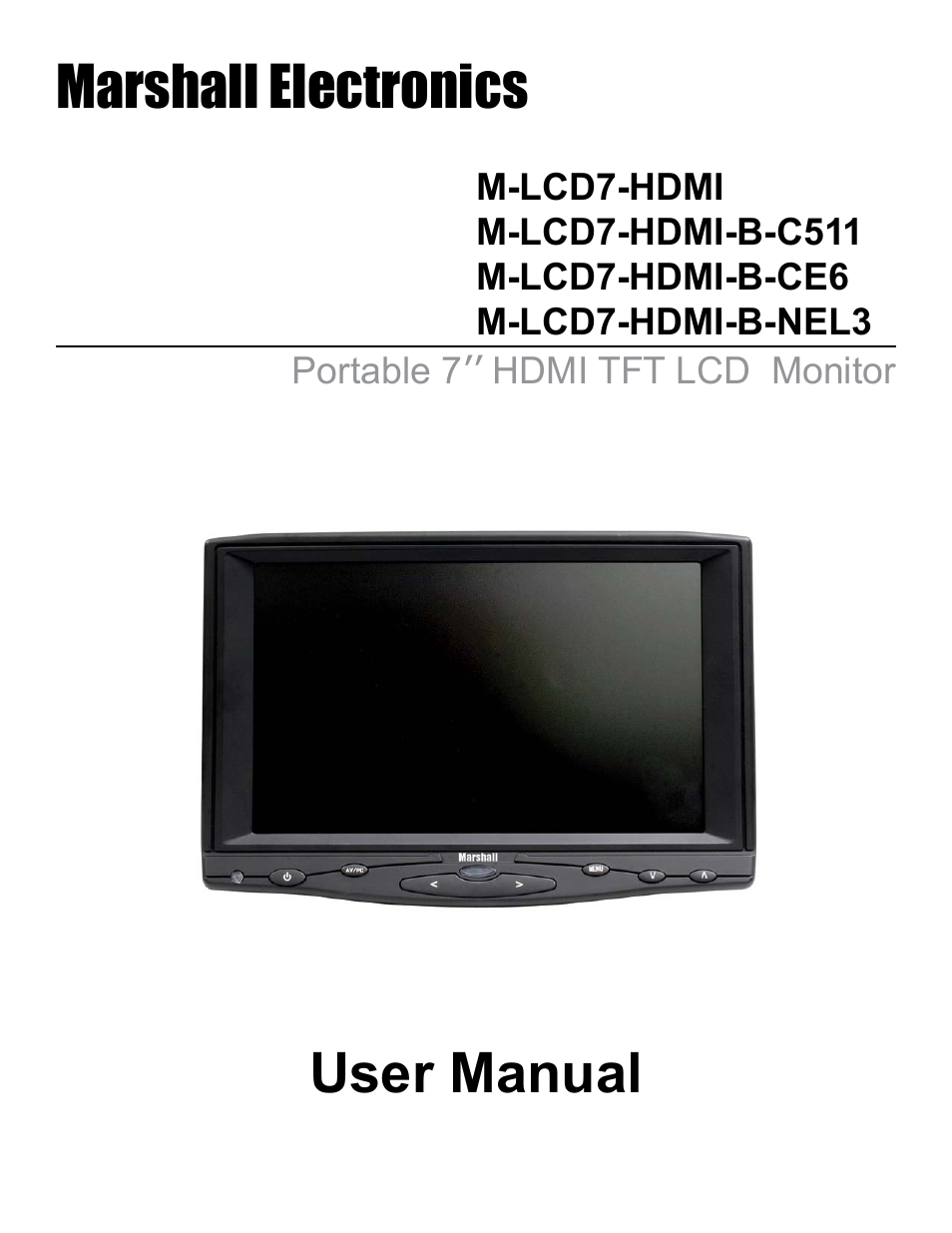 marshall electronic m lcd7 hdmi b ce6 user manual 16 pages also rh manualsdir com Scott's Electronics Marshall MN Scott's Electronics Marshall MN
