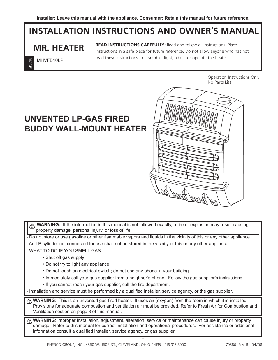 mr heater mhvfb10lp user manual 16 pages rh manualsdir com mr heater mh18b owners manual mr buddy heater owners manual