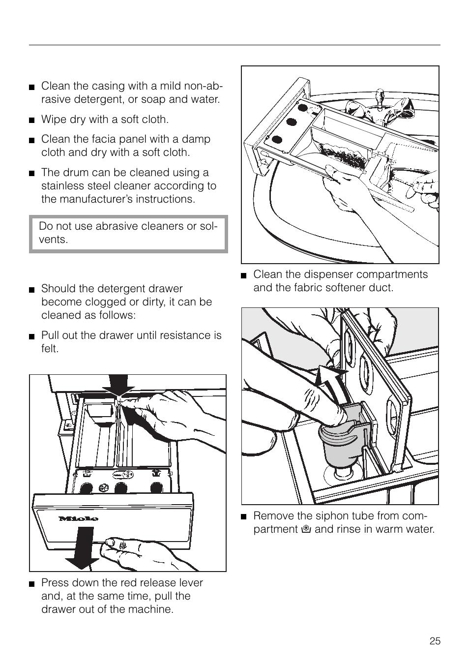 Miele Washing Machine Detergent Drawer