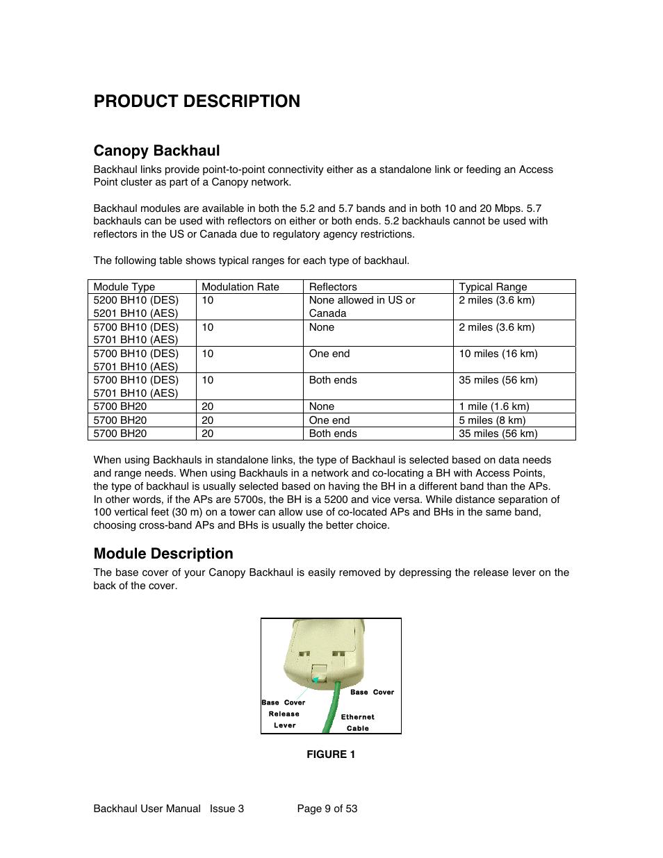 Product description Canopy backhaul Module description | Motorola Canopy Backhaul Module User Manual | Page 9 / 53  sc 1 st  manualsdir.com & Product description Canopy backhaul Module description | Motorola ...