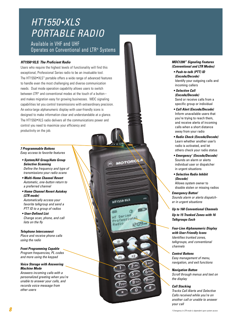 ht1550 xls portable radio systems motorola ht750 user manual rh manualsdir com motorola ht750 service manual motorola ht750 charger manual