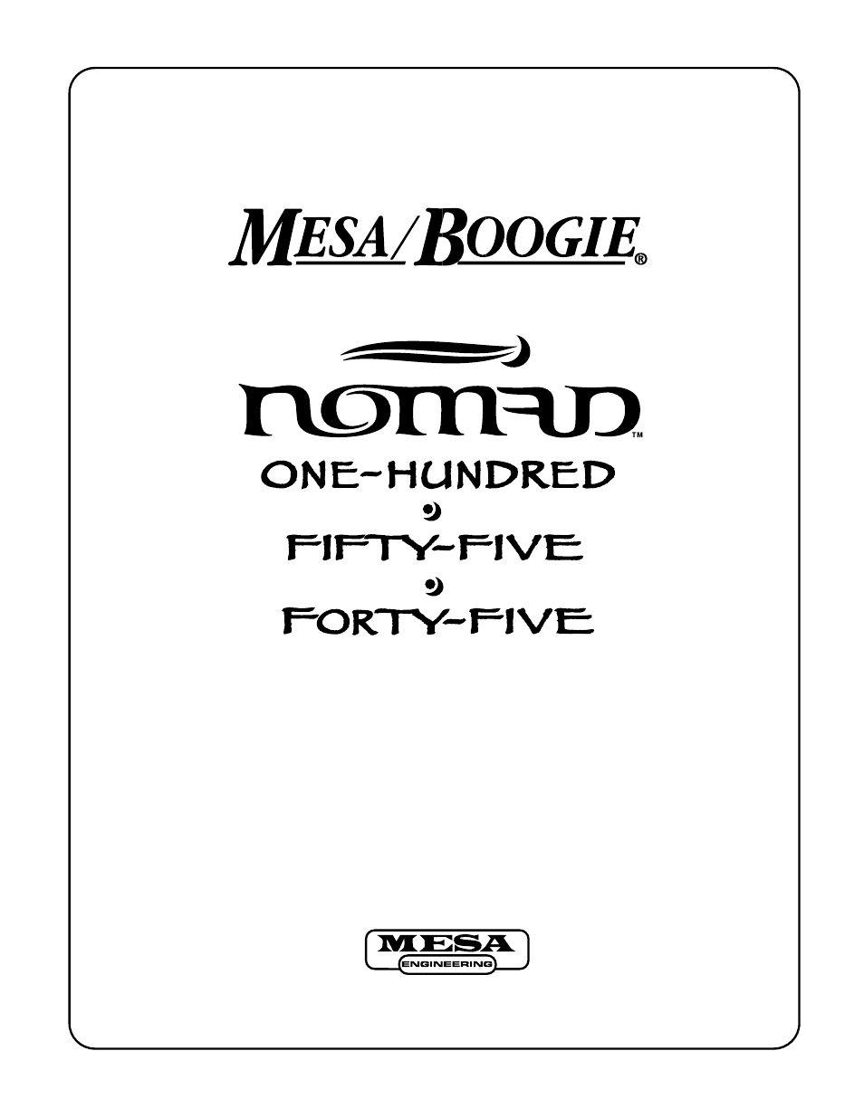 mesa boogie nomad amplifier 45 user manual 51 pages also for rh manualsdir com Mesa Boogie Wallpaper Mesa Boogie Logo