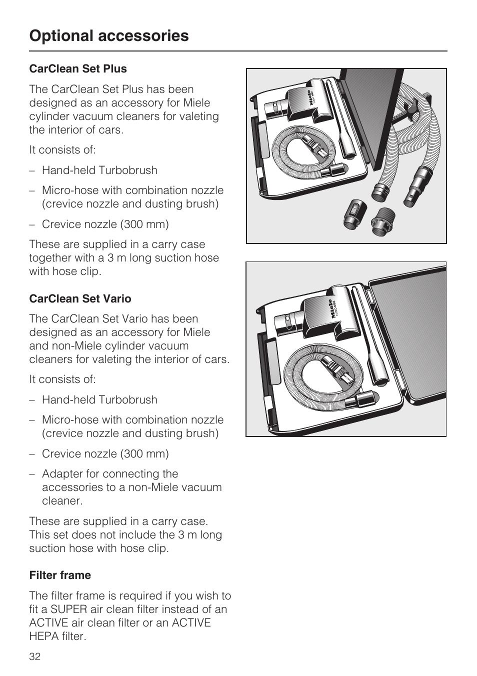 Miele W1 Classic User Manual