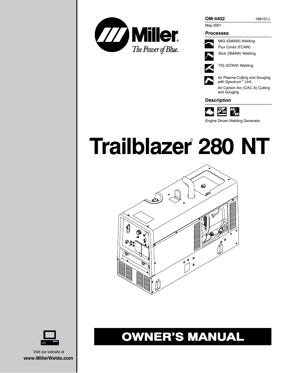 miller electric 280 nt page1 miller electric 280 nt user manual 64 pages miller 14 pin connector wiring diagram at suagrazia.org