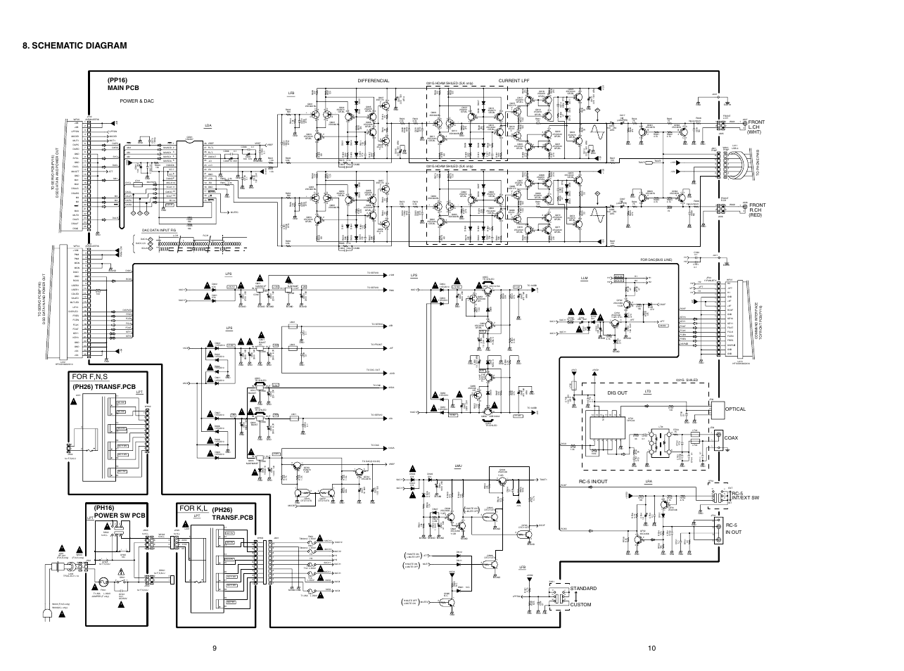 Schematic       diagram     For f n s  For k l   Marantz SUPER    AUDIO       CD       PLAYER    SA8400 User Manual   Page