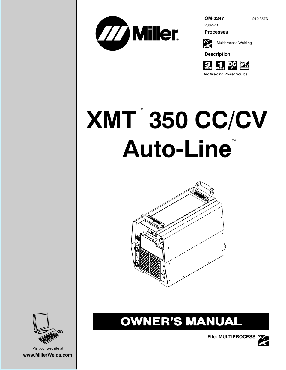 miller electric xmt 350 cc  cv user manual