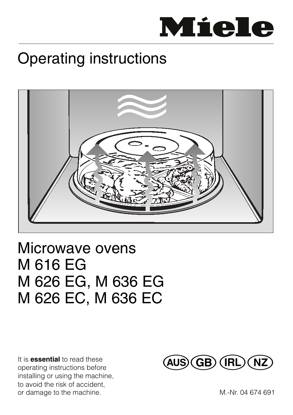 Miele M 636 Eg User Manual 44 Pages Also For 616 626 Ec