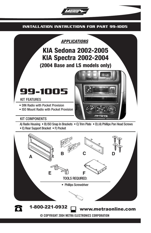 metra electronics 99 1005 user manual 8 pages rh manualsdir com Metra Home Theater Pac Electronics