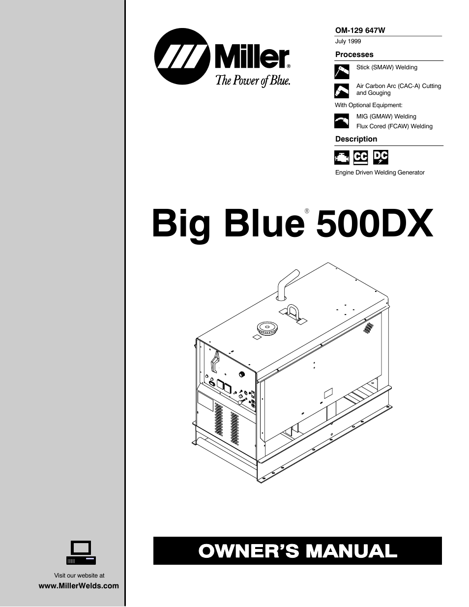 miller electric 500dx r user manual