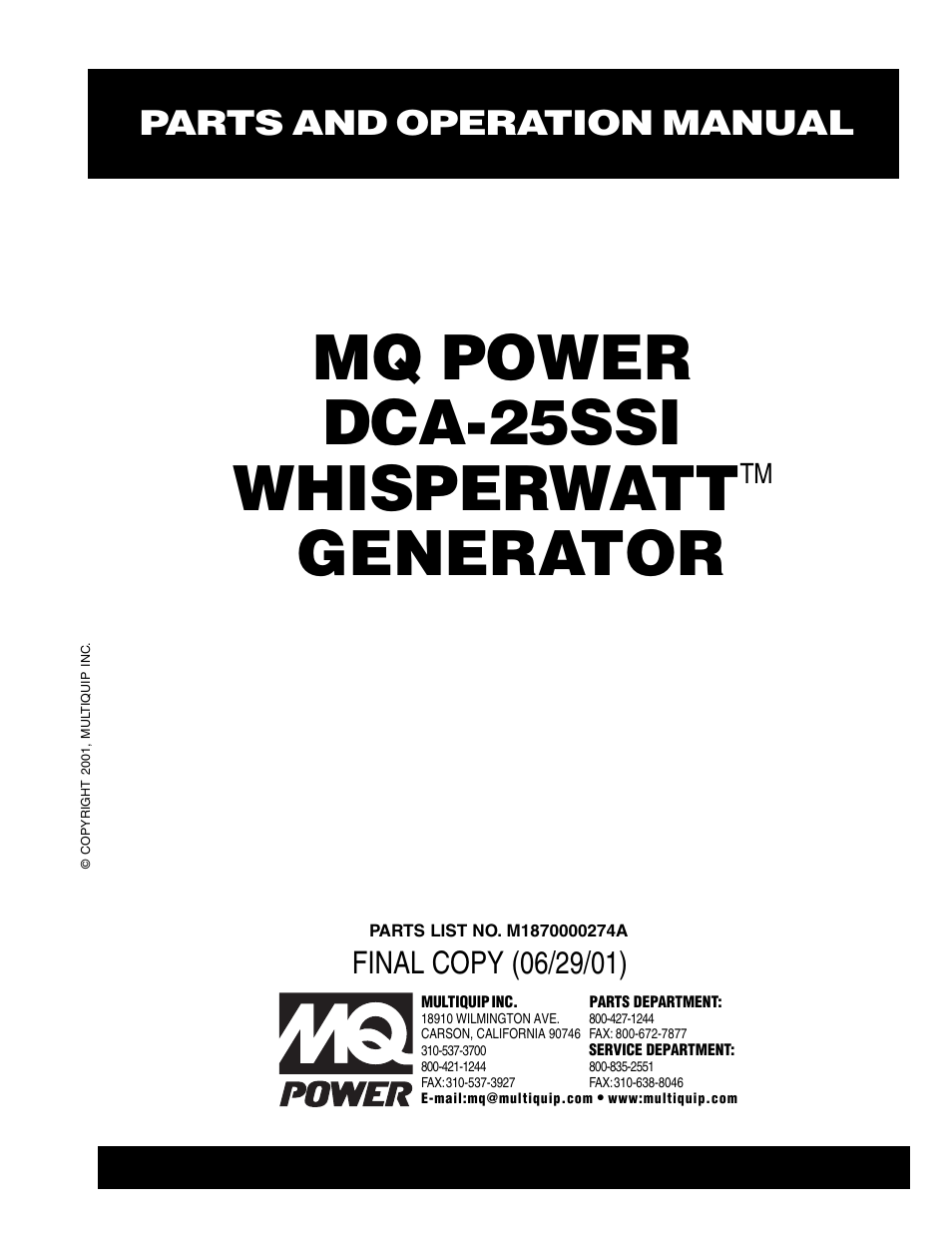 multiquip mq power whisperwatt generator dca 25ssi page1 mq power parts dca 25ssiu2 mq power generator dca 25ssiu2 mq power  at bakdesigns.co