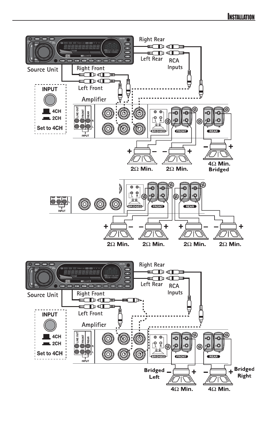 Mb Quart Reference Series 4 Channel Amplifier Raa4200 User Manual Page 9 76 Also For Raa 4250