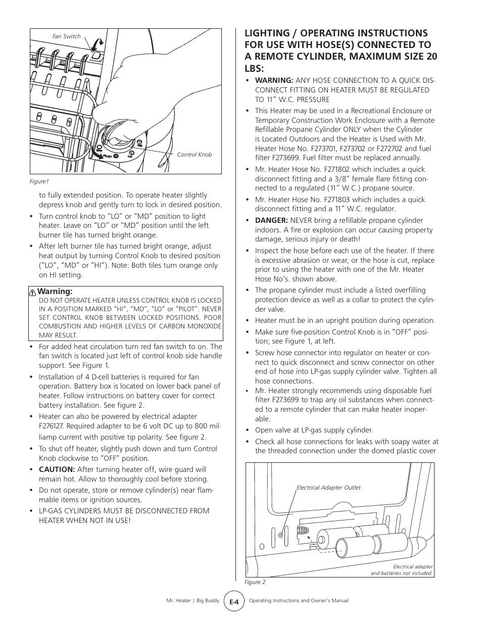 Mr Heater Big Buddy Mh188 User Manual Page 4 16