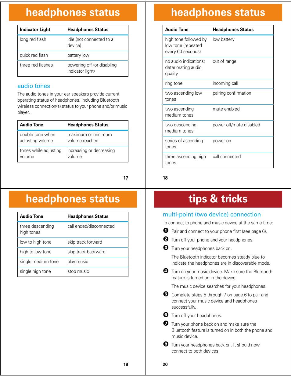 headphones status tips tricks motorola motorokr s9 hd user rh manualsdir com motorola rokr s9 hd manual Motorola S9 Review
