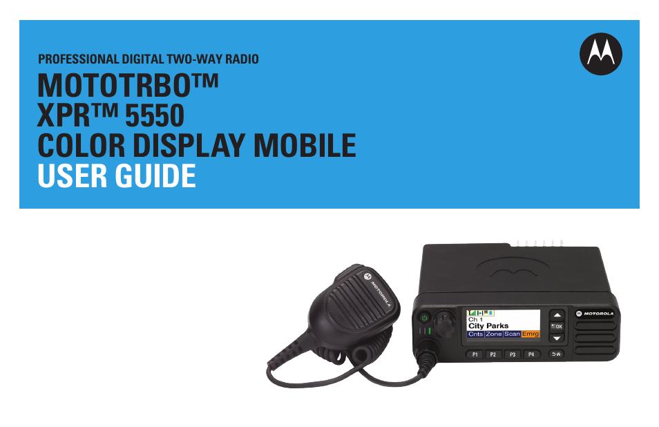 Motorola XPR 5550 User Manual | 118 pages