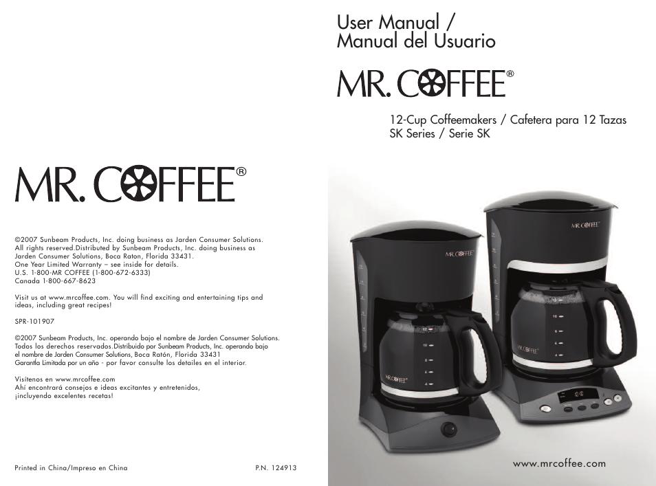 Mr. Coffee appliances jwx series 5-cup programmable coffeemaker.