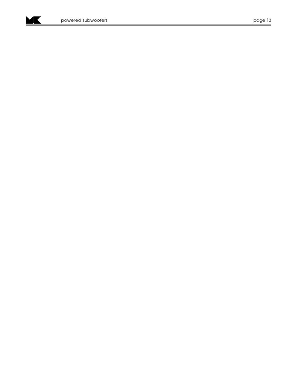 MK Sound MX-125 MK II User Manual | Page 13 / 16 | Also for: VX-7 MK