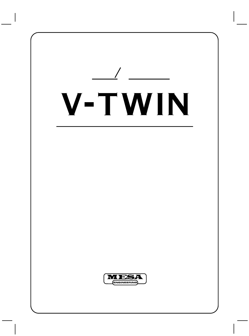 mesa boogie v twin user manual 10 pages rh manualsdir com Mesa Boogie Studio 22 Mesa Boogie Dual Rectifier