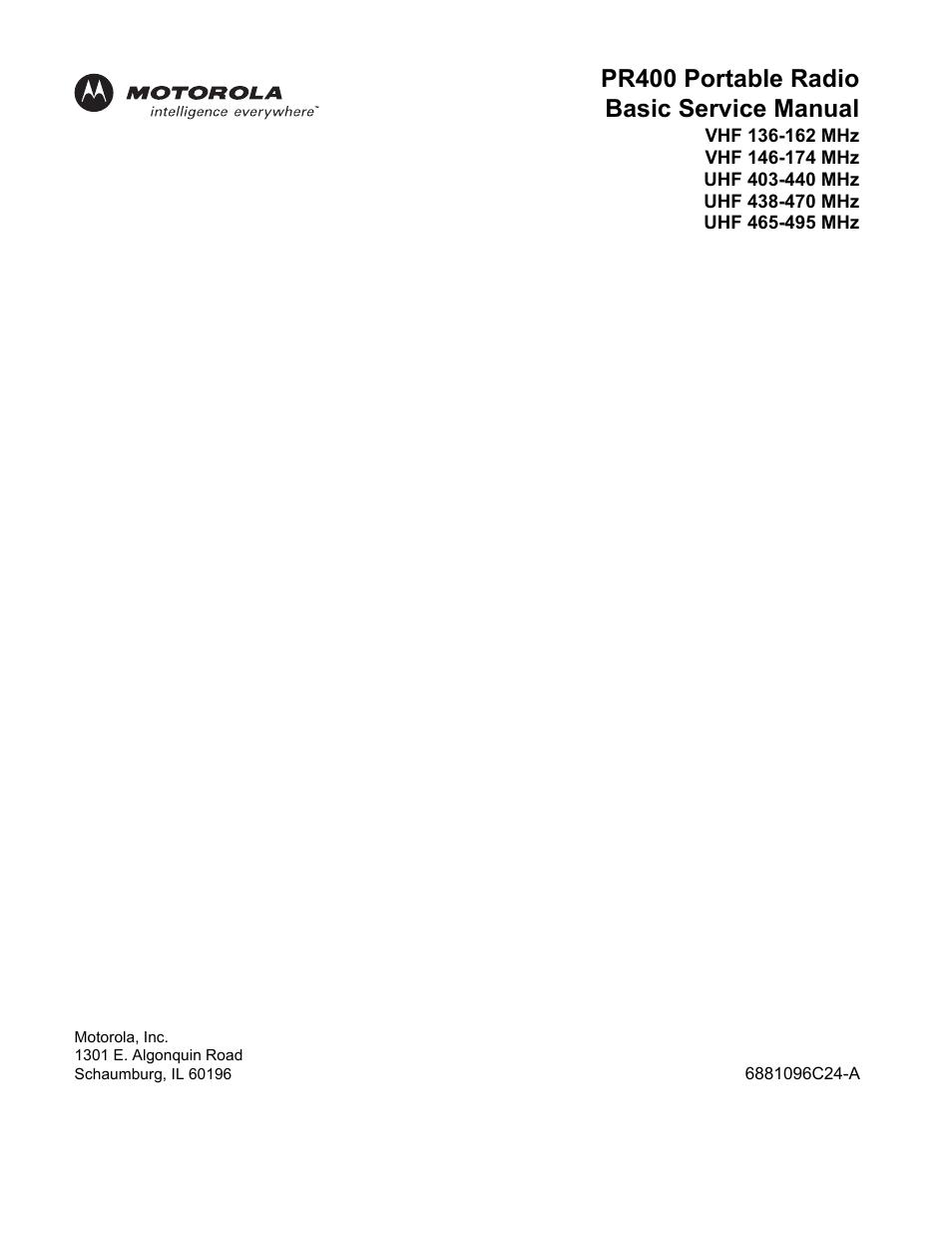 pr400 motorola manual