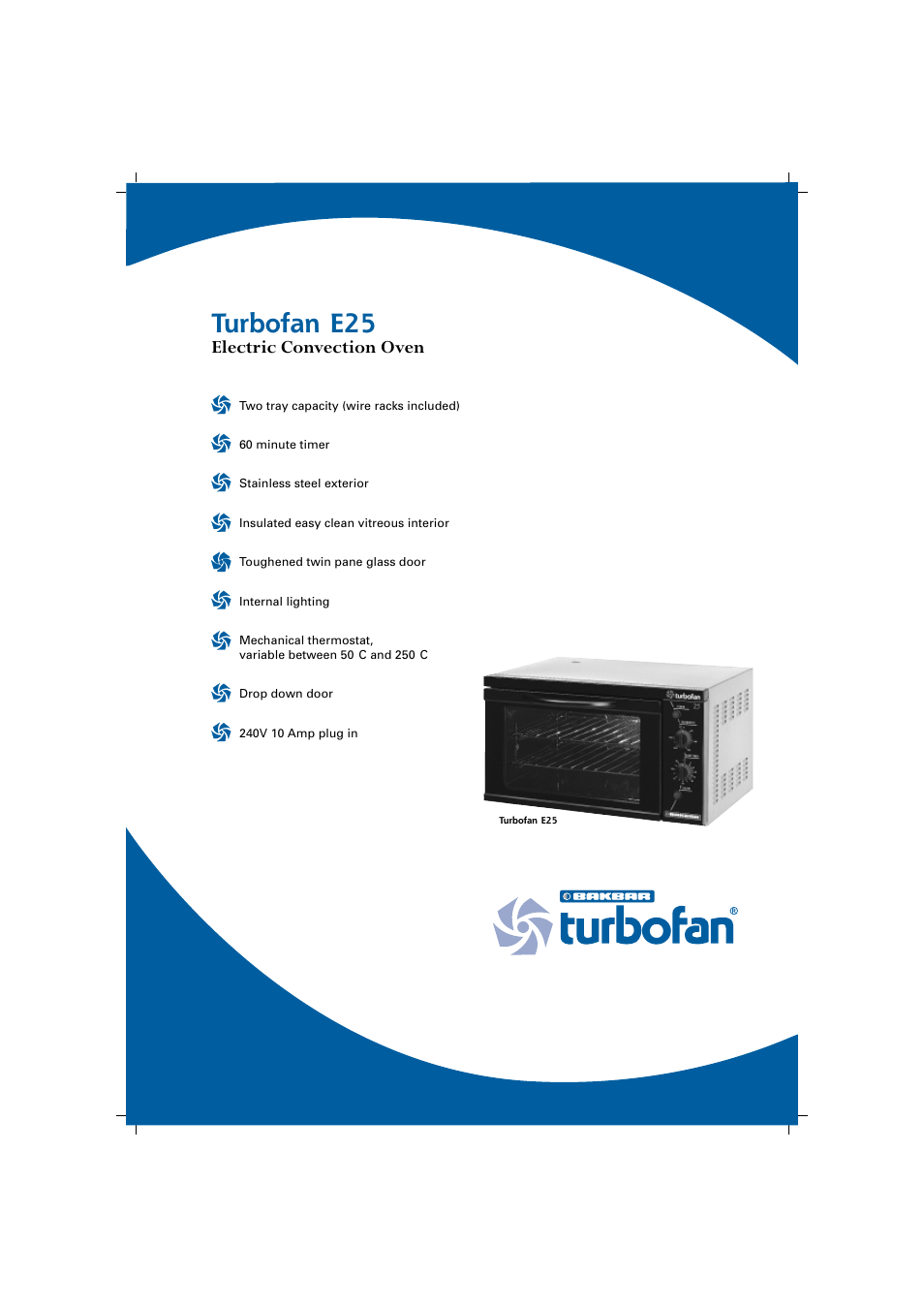 Moffat Turbofan E25 User Manual 2 Pages