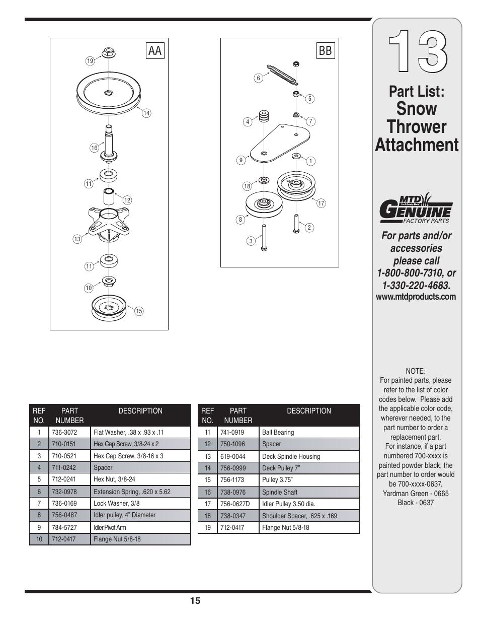 mtd 625 manual