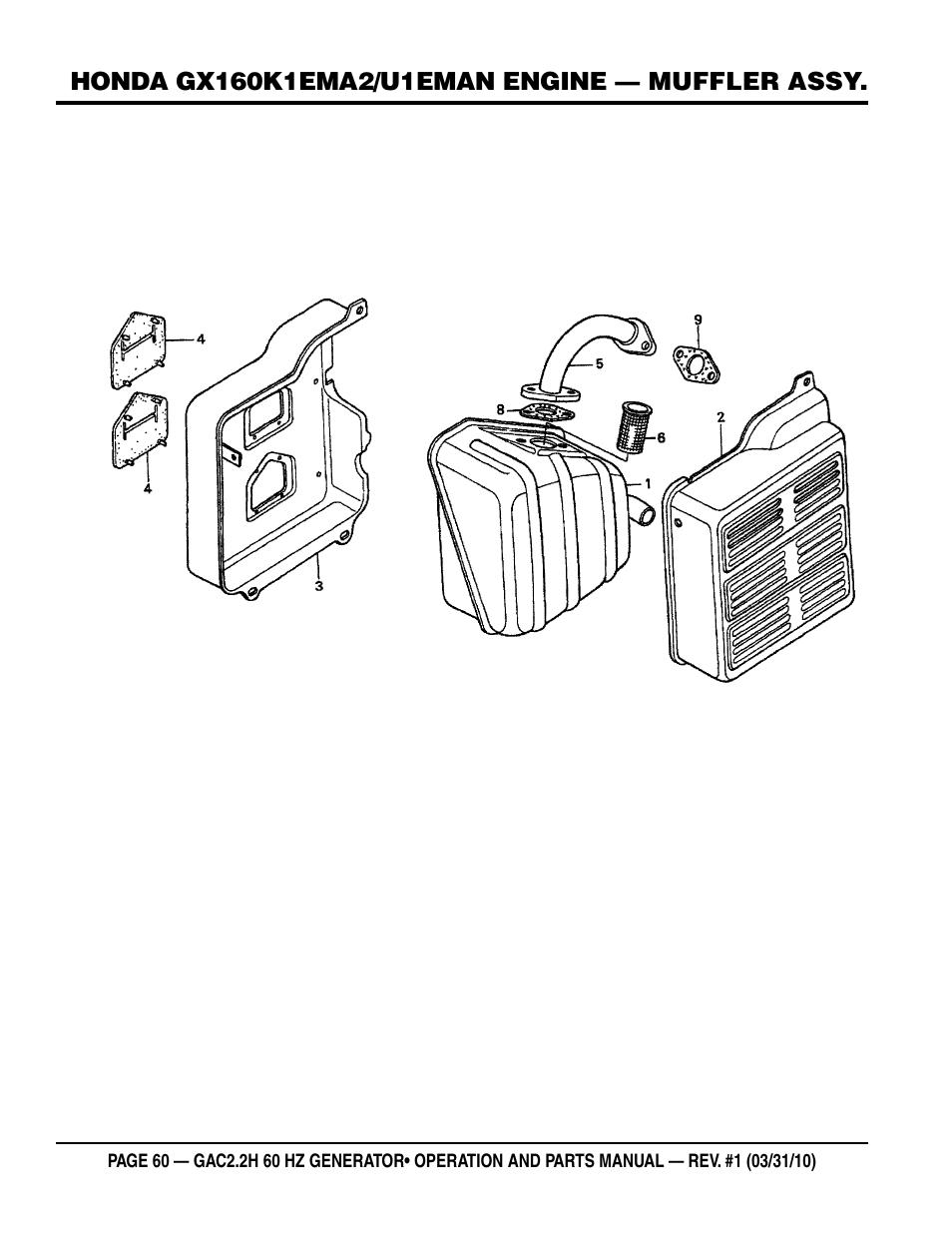 honda gx 160 repear manual